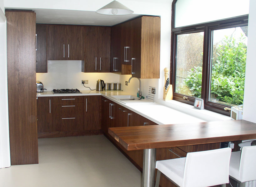Bespoke Kitchen In Walnut By Bristol Fine Furniture